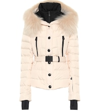 Beverley fur-trimmed down ski jacket