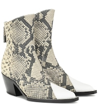 Tex leather ankle boot