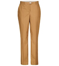 Cotton and silk straight pants