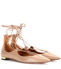 Christy Flat leather ballerinas