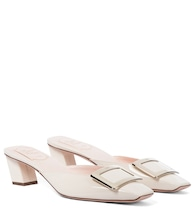 Belle Vivier 45 patent leather mules