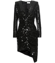 Sequinned silk dress