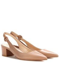 Amee leather slingback pumps