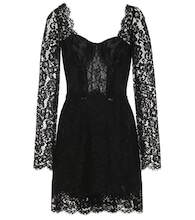 Cotton-blend lace minidress