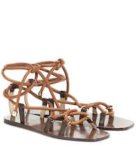 Aziza Flat leather sandals