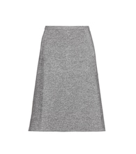Cotton and wool-blend skirt