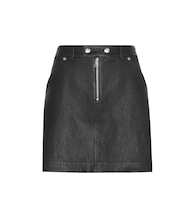 Exclusive to mytheresa.com – leather and suede miniskirt