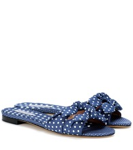 Cleo polka-dot slip-on sandals