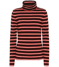 Striped wool-blend sweater