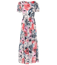 Palomina floral silk midi dress