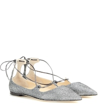 mytheresa.com exclusive Vita glitter lace-up ballerinas
