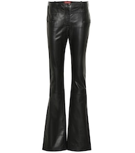 Serge mid-rise leather bootcut pants