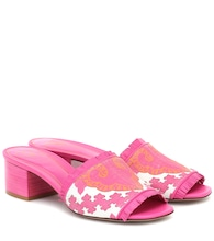 Exclusive to Mytheresa – Valentino Garavani canvas and leather sandals