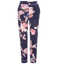 Giulia  printed silk trousers