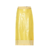 Sula embossed skirt
