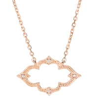 Moon River 18kt rose gold necklace with diamonds