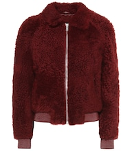 Salvia shearling bomber jacket