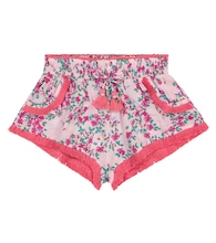 Lulu floral fringed shorts