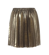 Manda metallic pleated skirt