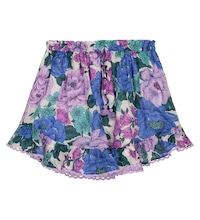 Poppy floral cotton voile skirt