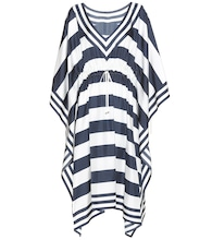 Striped silk kaftan