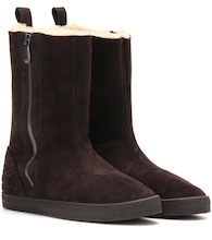 Winter Lagoon shearling-lined suede boots