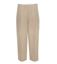 Murol cropped wool twill trousers