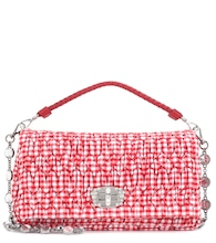 Plaid cotton shoulder bag