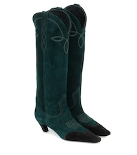 Dallas suede knee-high boots