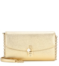 Dolce Pochette metallic leather shoulder bag