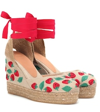 Carina embroidered wedge espadrilles