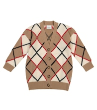 Argyle wool and cashmere cardigan