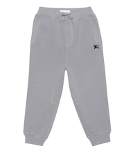 Embroidered cotton trackpants