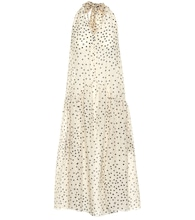 Polka-dot cotton and silk dress