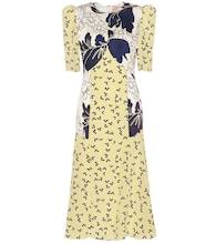Thalia printed silk dress