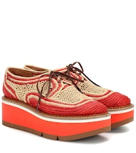 Acajou raffia platform oxford shoes