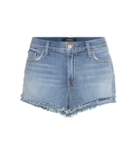 Sachi mid-rise denim shorts