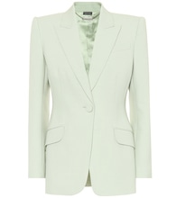 Wool and silk-blend blazer