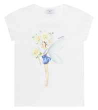 Fairy-printed cotton top