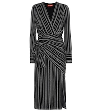 Sparks striped silk-blend dress