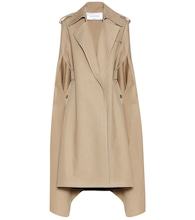 Cotton and linen blend trench coat