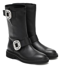 Viv' Strass leather ankle boots
