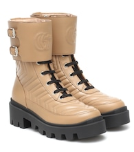 Frances leather combat boots
