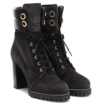 Ankle Boots Kingsly aus Velourlseder