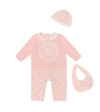 Baby Cotton onesie, bib and hat set