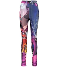 Printed technical jersey pants