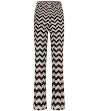 Chevron knit flared pants