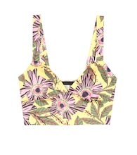 Printed cotton crop top