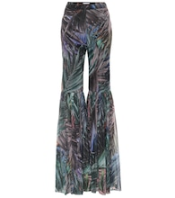 Printed high-rise flared pants