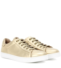 Low Top metallic leather sneakers